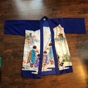 Blue and White Kimono